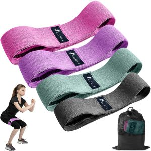 Fabric Resistance Bands for Men Women 4 Pack Non-Slip Booty Band